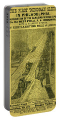 Advertisement For The First Toboggan Slide In Philadelphia Portable Battery Charger
