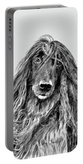 Afghan Hound 3 Portable Battery Charger
