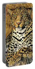Portable Battery Charger featuring the photograph African Leopard Portrait Wildlife Rescue by Dave Welling