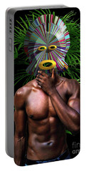 African Masked Man Portable Battery Charger
