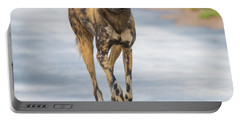 African Wild Dog Bouncing Portable Battery Charger