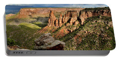 After The Storm Light On Colorado National Monument Portable Battery Charger