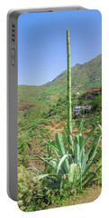 Agave With Flower Spear In Masca Portable Battery Charger