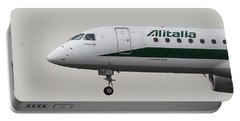 Alitalia Embraer 190 And Bird  Portable Battery Charger