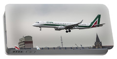 Alitalia Embraer 190 Bird Near Miss Portable Battery Charger