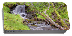 Allt Leathan Waterfall Below Schiehallion - Scotland - Perthshire Portable Battery Charger