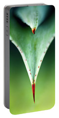 Aloe Thorn And Leaf Macro Portable Battery Charger