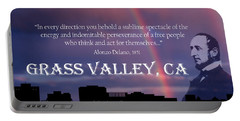 Alonzo Delano Grass Valley Quote Portable Battery Charger
