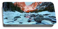 Alpenglow At Dream Lake Rocky Mountain National Park Portable Battery Charger