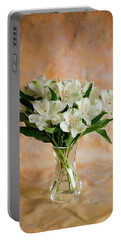 Alstroemeria Bouquet On Canvas Portable Battery Charger