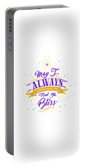 Always Find My Bliss Portable Battery Charger