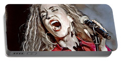 Portable Battery Charger featuring the digital art Amanda Marshall by Pennie McCracken