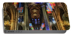 Amazing Interior Cathedrale Notre Dame De Paris France Before Fire Portable Battery Charger