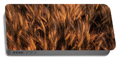 Amber Heads Of Wheat Portable Battery Charger