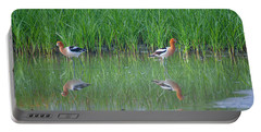 American Avocet Pair Portable Battery Charger