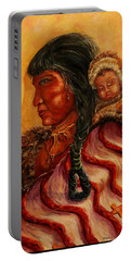 American Indian Mother And Child Portable Battery Charger