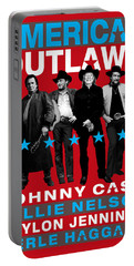 American Outlaws - The Coolest Gang Of Country Stars In Town Portable Battery Charger