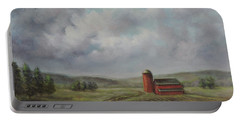 American Scene Red Barn  Portable Battery Charger