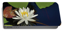 American Water Lily-square Portable Battery Charger