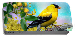 American Yellow Finch Portable Battery Charger