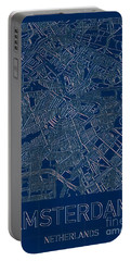 Amsterdam Blueprint City Map Portable Battery Charger
