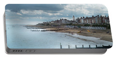 Portable Battery Charger featuring the photograph An English Beach by Perry Rodriguez