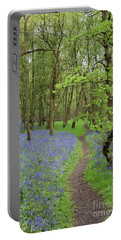 An English Bluebell Wood Portable Battery Charger