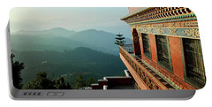 Portable Battery Charger featuring the photograph Ancient Buddhist Monastery In Nepal by Raimond Klavins