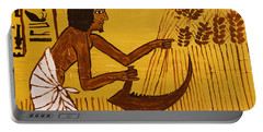 Portable Battery Charger featuring the photograph Ancient Egypt Farmer by Sue Harper