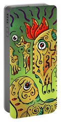 Portable Battery Charger featuring the digital art Ancient Spirit by Sotuland Art