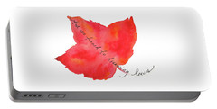 And We Turned To Dreaming Leaves Portable Battery Charger