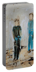 Angel Boys On A Dirt Road Portable Battery Charger
