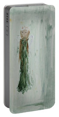 Angel In Green Portable Battery Charger