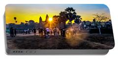 Angkor Wat At Sunrise - Siem Reap, Cambodia Portable Battery Charger