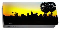 Angkor Wat Silhouette Portable Battery Charger