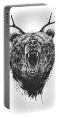 Angry Bear With Antlers Portable Battery Charger