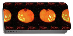Angry Pumpkins Banner Portable Battery Charger