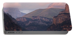 Portable Battery Charger featuring the photograph Anisclo Canyon Sunset by Stephen Taylor