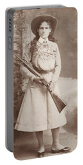 Annie Oakley Holding A Rifle - 1899 Portable Battery Charger