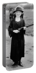 Annie Oakley Holding Rifle - 1922 Portable Battery Charger