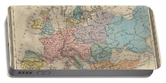 Antique Map Of Europe In 814 Portable Battery Charger