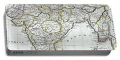 Antique Map Of India   Portable Battery Charger