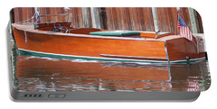 Antique Wooden Boat By Dock 1302 Portable Battery Charger
