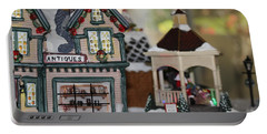 Antiques In Christmas Town Portable Battery Charger