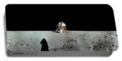 Apollo 11 Panorama Of The First Men Portable Battery Charger