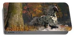 Portable Battery Charger featuring the digital art Appaloosa River by Daniel Eskridge