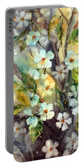 Peony Watercolor Portable Battery Chargers