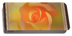 Apricot Desert Rose Framed Portable Battery Charger