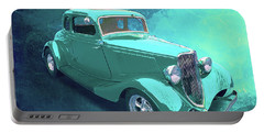 Aqua 1934 Ford Portable Battery Charger