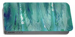 Portable Battery Charger featuring the digital art Aqua Abstract Flow by Robert G Kernodle